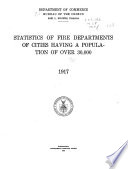 Statistics of Fire Departments of Cities Having a Population of Over 30 000