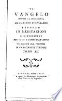 Il Vangelo secondo la concordanza de  quattro evangelisti esposto in meditazioni e distribuito per tutti i giorni dell anno traduzione dal francese di un sacerdote torinese  Tomo 1    12