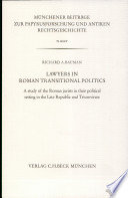 Lawyers in Roman Transitional Politics