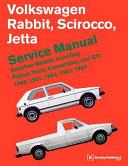 Volkswagen Rabbit Scirocco Jetta