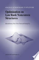 Optimization On Low Rank Nonconvex Structures book