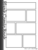 Blank Comic Book Pages-Blank Comic Strips-7 Panels, 8.5