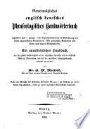 Gemeinn  tzliches englisch deutsches phraseologisches Handw  rterbuch