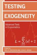 Testing Exogeneity