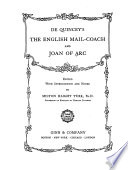 De Quincey s The English Mail coach and Joan of Arc