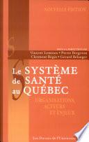 illustration du livre Le système de santé au Québec