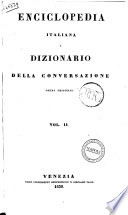Enciclopedia Italiana Dizionario Della Conversazione