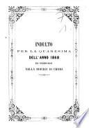 Indulto per la Quaresima dell anno 1868 da osservarsi nella diocesi di Crema