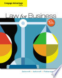 Cengage Advantage Books  Law for Business