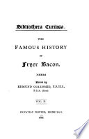 The Famous Historie of Fryer Bacon