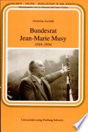 Bundesrat Jean Marie Musy  1919 1934