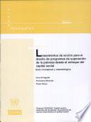 Lineamientos de acción para el diseño de programas de superación de la pobreza desde el enfoque del capital social