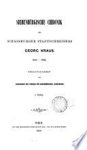 Siebenbürgische Chronik, des schässburger Stadtschreibers, Georg Kraus. 1608-1665