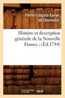 illustration Histoire Et Description Generale de La Nouvelle France;