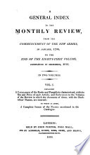 A General Index ... from the Commencement of the New Series, in January, 1790, to the End of the Eighty-first Volume Completed in December 1816 ...