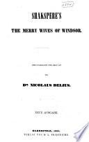 Shakspere's The Merry Wives of Windsor