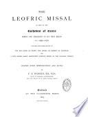 The Leofric Missal