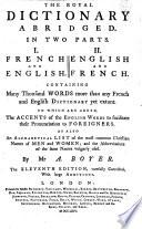 The Royal Dictionary Abridged