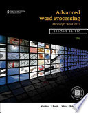 Advanced Word Processing  Lessons 56 110  Microsoft Word