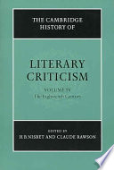 The Cambridge History of Literary Criticism  Volume 4  The Eighteenth Century