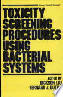 Toxicity Screening Procedures Using Bacterial Systems