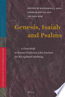 Genesis  Isaiah  and Psalms