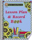Lesson Plan Record Book