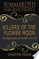 download ebook killers of the flower moon - summarized for busy people pdf epub