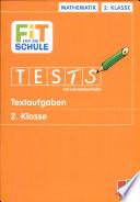 Fit für die Schule. Tests mit Lernzielkontrolle: Textaufgaben 2. Klasse