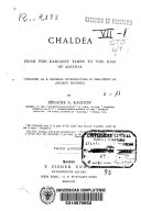 The Story of Chaldea from the Earliest Times to the Rise of Assyria