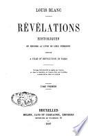 Révélations historiques en réponse au livre de lord Normamby, intitulé