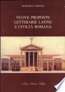 Nuove proposte letterarie latine