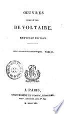 Oeuvres compl  tes de Voltaire  Dictionnaire philosophique