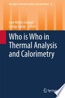 Who Is Who In Thermal Analysis And Calorimetry book