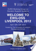 Proceedings of the EWG DSS Liverpool 2012 Workshop