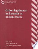 Order Legitimacy And Wealth In Ancient States