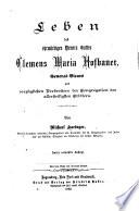 Leben des ehrwürdigen dieners Gottes Clemens Maria Hofbauer