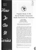 Popular Music in the Social Studies Classroom