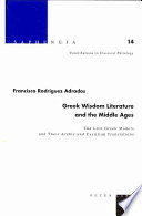 Greek Wisdom Literature and the Middle Ages