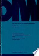 Input Output Rechnung f  r die Bundesrepublik Deutschland 1972