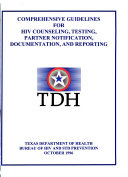 Comprehensive Guidelines For Hiv Counseling Testing Partner Notification Documentation And Reporting