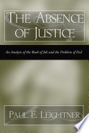 The Absence Of Justice book