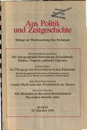 Aus Politik und Zeitgeschichte