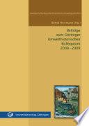Beiträge zum Göttinger Umwelthistorischen Kolloquium 2008 - 2009