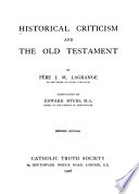 Historical Criticism and the Old Testament
