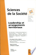 Sciences de la Société N° 53 Mai 2001 : Leadership et arrangements territoriaux