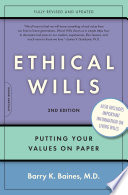 Ethical Wills -- Putting Your Values on Paper