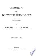 ZEITSCHRIFT FUR DEUTSCHE PHILOLOGIE HERAUSGEGEBEN