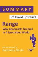 Summary Of David Epstein S Range