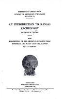 AN INTRODUCTION TO KANSAS ARCHEOLOGY